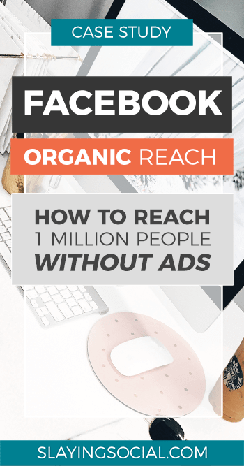 Skyrocket your Facebook organic reach! Here's a case study packed with Facebook reach tips that will show you how it's possible to reach one million people without spending money on ads.