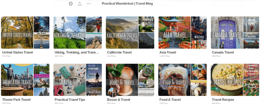 These are Practical Wanderlust's cover boards. I wanted them to be bright, colorful, and easy to read.