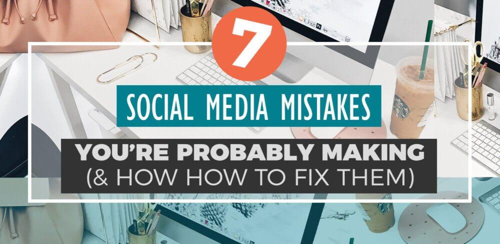 Are you the type of person who checks Facebook instead of looking at the time? Do you get sucked into hours of idle Pinteresting and Instagram liking? UGH, us too. Here's how to fix these super common 7 Social Media strategy mistakes and get back on track for your blog, brand, or business!