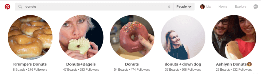 You can find people on Pinterest to follow by using the Search bar!