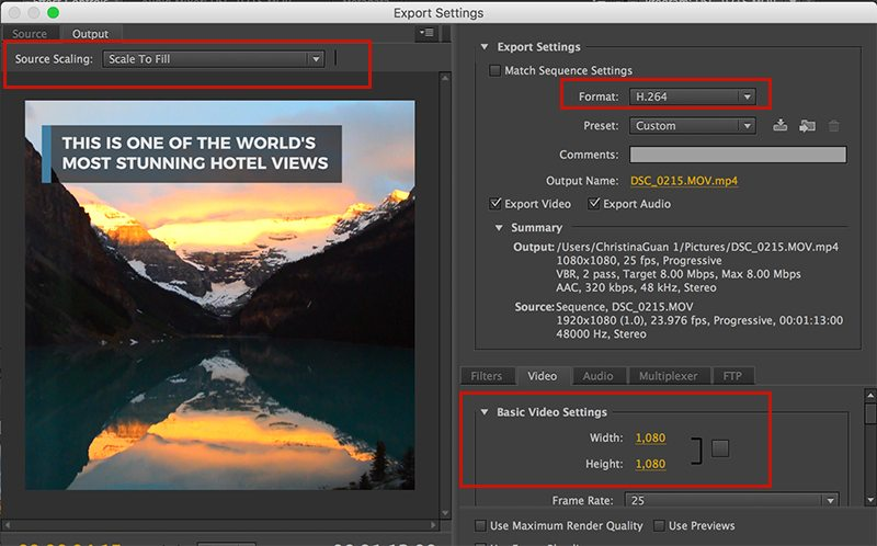How to make a square video with Adobe Premiere Pro.