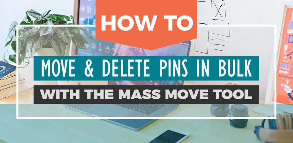 How to move or delete pins in bulk in Pinterest using the Mass Move Tool! A Pinterest tutorial for beginners.