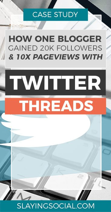 EPIC case study on how to use Twitter to get massive exposure for your blog! This post covers how to use Twitter threads effectively and covers a variety of Twitter thread tips you might not have thought of. #twitter #marketing #socialmedia