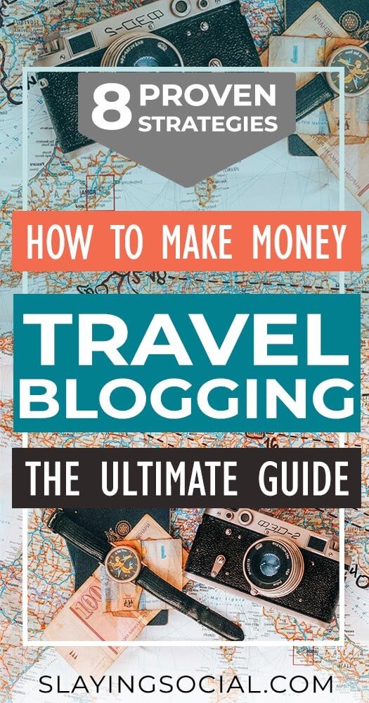 How do travel bloggers earn money? Here are 8 proven, in-depth strategies for monetizing your travel blog. The ultimate guide to making money travel blogging! #bloggingtips