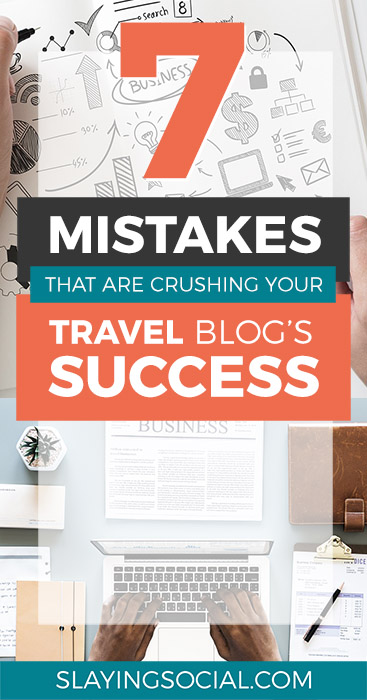 Are these deadly travel blogging mistakes crushing your travel blog's success? This article is a must-read if you want to turn your travel blog into a business and succeed in 2018. #blogging #travelblogging #marketing