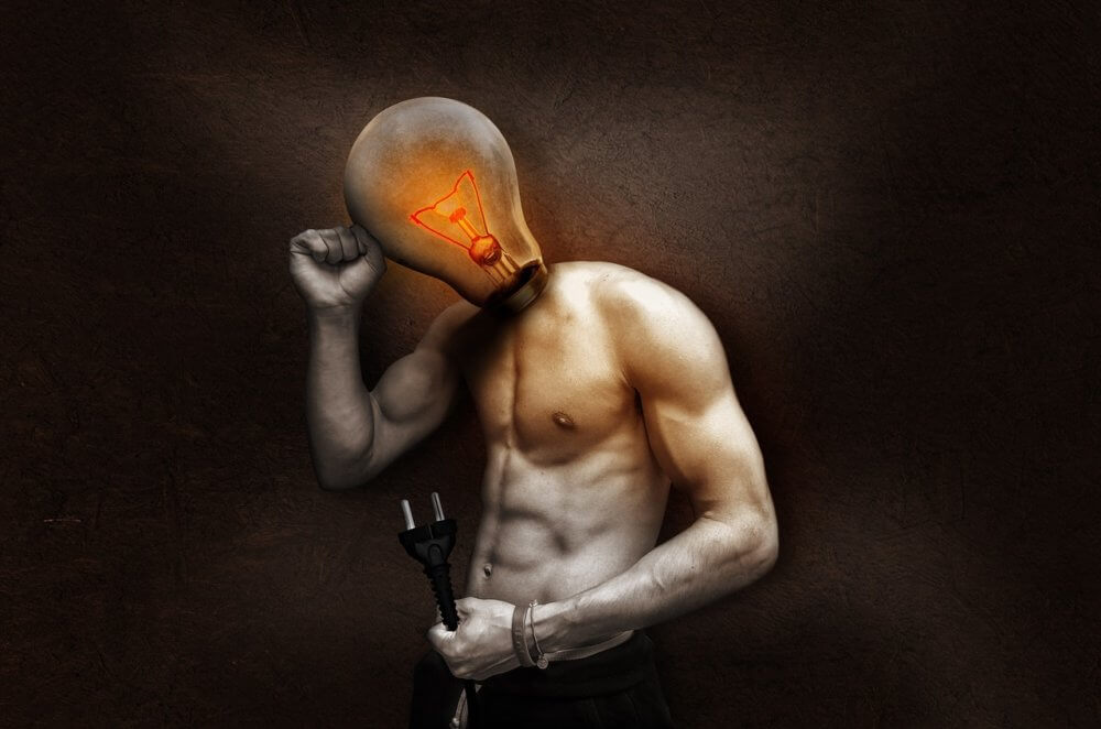 This is a horrifying image of a sexy guy with a lightbulb for a head and a plug for a ... errrr, a plug in his hand. Why? I don't know. I'm sorry.