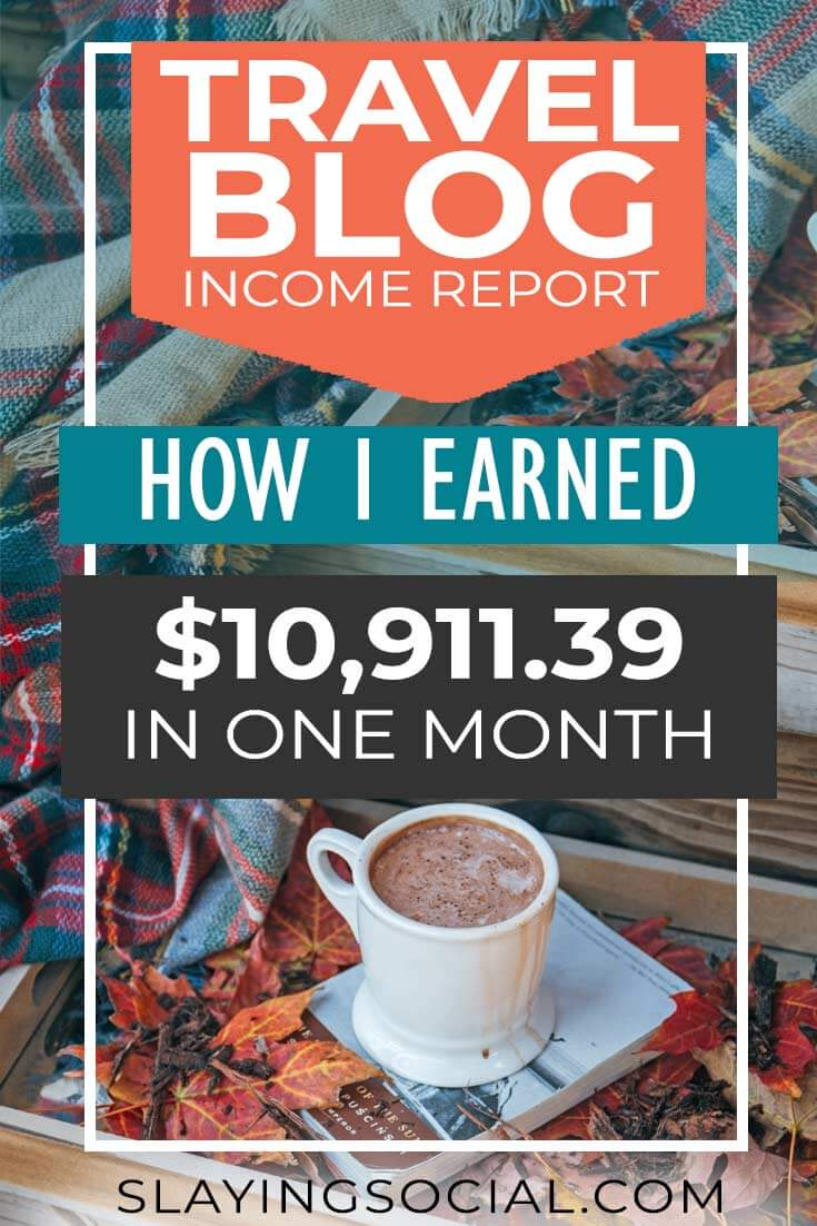 How did my travel blog earn nearly $11K in October 2018? (Ahem: NO, it wasn't from courses or blogging about blogging.) Find out in my travel blog income report, plus how you can monetize your blog to earn passive income too. #blogging #bloggingtips
