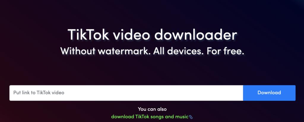 Screenshot from QLoad TikTok video downloader